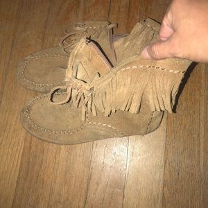 Uggs Girls moccasin boots size 2